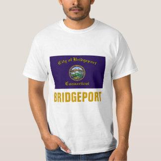 T-shirt Drapeau de ville de Bridgeport