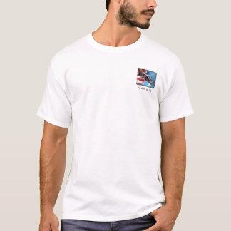 T-shirt Drapeau d'Eagle de vol