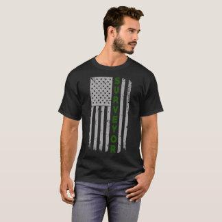 T-shirt Drapeau des États-Unis d'arpenteur