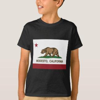 T-shirt drapeau d'état de Modesto la Californie