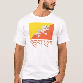 T-shirt Drapeau d'habillement du Bhutan