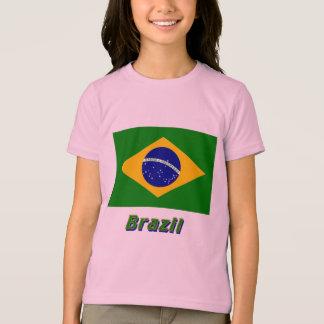 T-shirt Drapeau du Brésil avec le nom