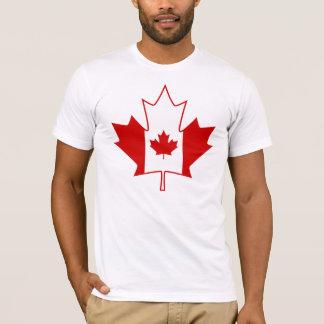 T-shirt Drapeau du Canada dans la feuille d'érable - le