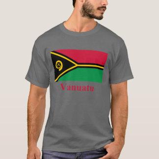 T-shirt Drapeau du Vanuatu avec le nom