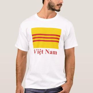 T-shirt Drapeau du Vietnam du Sud avec le nom dans le