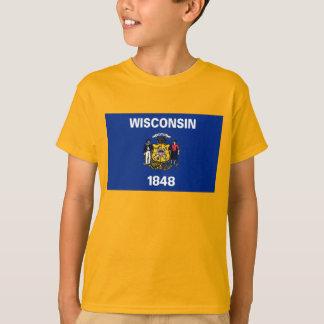 T-shirt Drapeau du Wisconsin