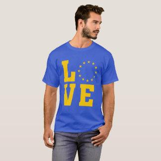 T-shirt Drapeau d'UE, Union européenne, AMOUR