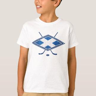 T-shirt Drapeau écossais de hockey sur glace