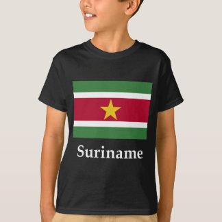 T-shirt Drapeau et nom du Surinam
