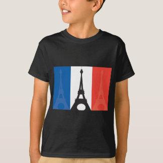 T-shirt Drapeau et Tour Eiffel français