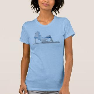T-shirt Drapeau finlandais de silhouette de fille