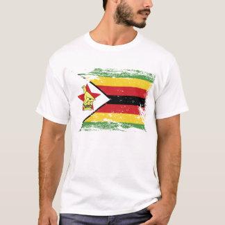 T-shirt Drapeau grunge du Zimbabwe