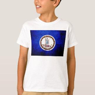 T-shirt Drapeau grunge noir d'état de la Virginie
