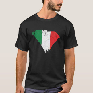 T-shirt Drapeau italien au-dessus de la Caroline du Sud