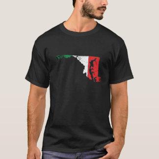 T-shirt Drapeau italien au-dessus du Maryland