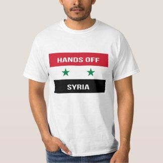 T-shirt Drapeau syrien - mains outre de la Syrie.  Soutien