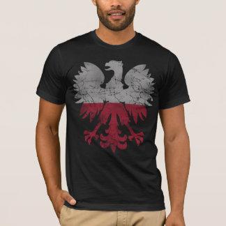 T-shirt Drapeau vintage de blanc Eagle de la Pologne
