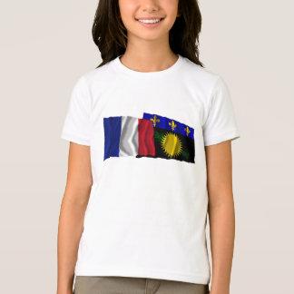 T-shirt Drapeaux de ondulation de la France et de la