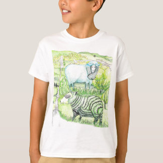 T-shirt drawing_sheep sur la colline