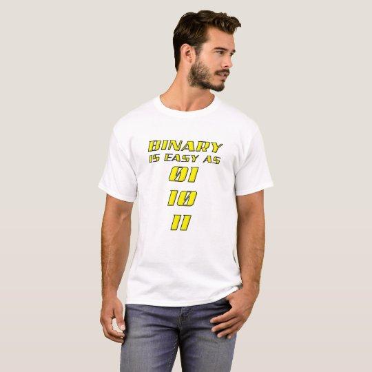 T-shirt drôle binaire facile