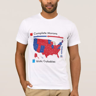 T-shirt drôle de carte d'élection