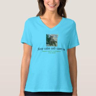 T-shirt drôle de chat (gardez le calme et