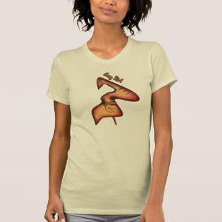 T-shirt drôle de femmes d'oiseau fouineur