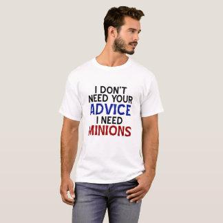T-shirt drôle de subordonné d'opinion