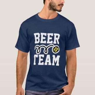 """T-shirt drôle de tennis """"d'équipe de bière"""""""