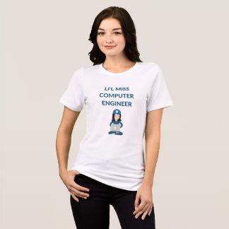 T-shirt drôle d'ingénieur informaticien de Mlle de