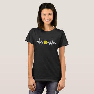T-shirt du battement de coeur ECG de joueur de