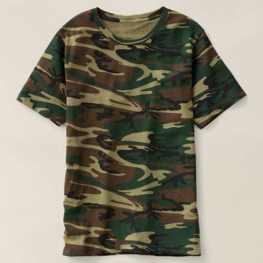 T-shirt camouflage, Vert camouflage
