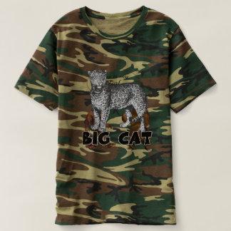 T-shirt du camouflage des hommes de léopard de