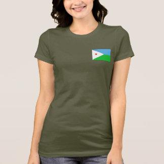 T-shirt du DK de drapeau et de carte de Djibouti