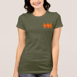 T-shirt du DK de drapeau et de carte de Macédoine