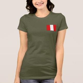 T-shirt du DK de drapeau et de carte du Pérou