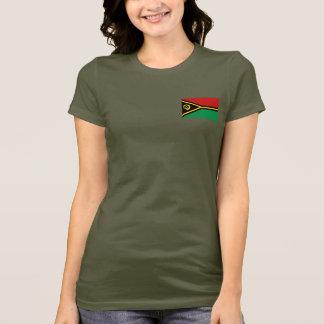 T-shirt du DK de drapeau et de carte du Vanuatu