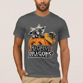 T-shirt du dragon aa de citrouille de DM, asphalte