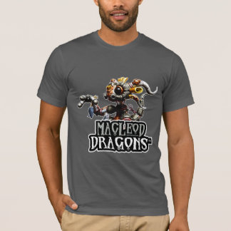 T-shirt du dragon aa de DM Steampunk, asphalte