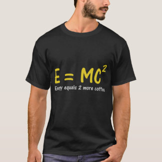 T-shirt du geek E=MC2
