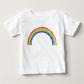 T-shirt du Jersey d'amende de bébé d'arc-en-ciel
