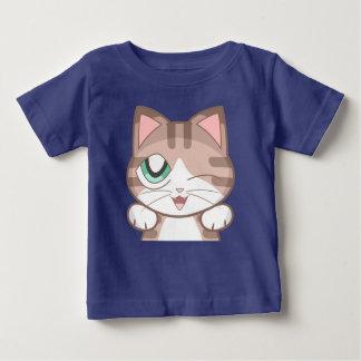 T-shirt du Jersey d'amende de bébé de chat de