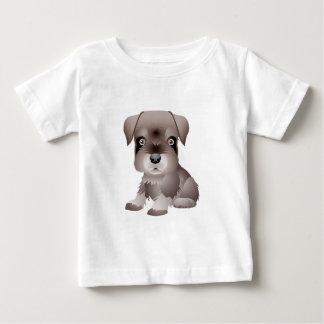 T-shirt du Jersey d'amende de bébé de chiot de