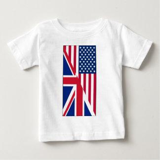 T-shirt du Jersey d'amende de bébé de drapeau