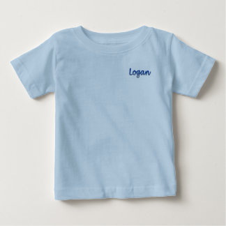 T-shirt du Jersey d'amende de bébé de Logan