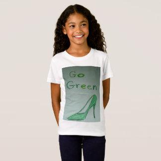 T-shirt du Jersey de filles de devenez écolo