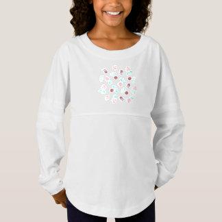 T-shirt du Jersey de l'esprit de filles de fleurs