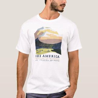 T-shirt du Montana de visite de WPA