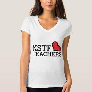 T-shirt du V-Cou des femmes - coeur de KSTF :