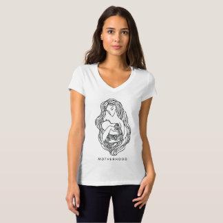 T-shirt du V-cou des femmes de maternité